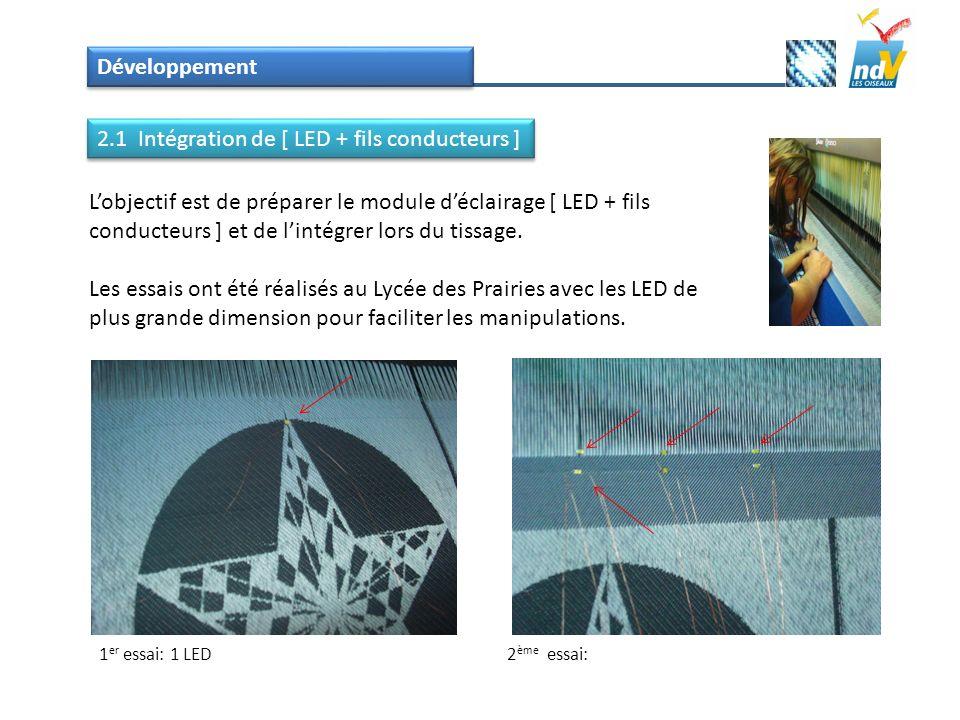 2.1 Intégration de [ LED + fils conducteurs ]